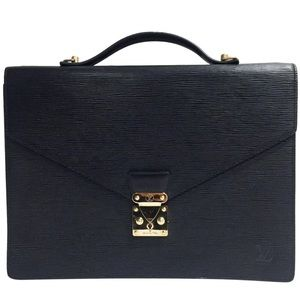 Louis Vuitton black epi leather vintage briefcase
